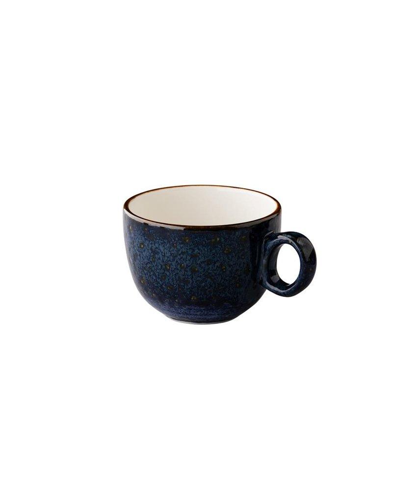 Q Authentic Jersey Latte koffiekop stapelbaar blauw 350 ml ( 6 stuks)