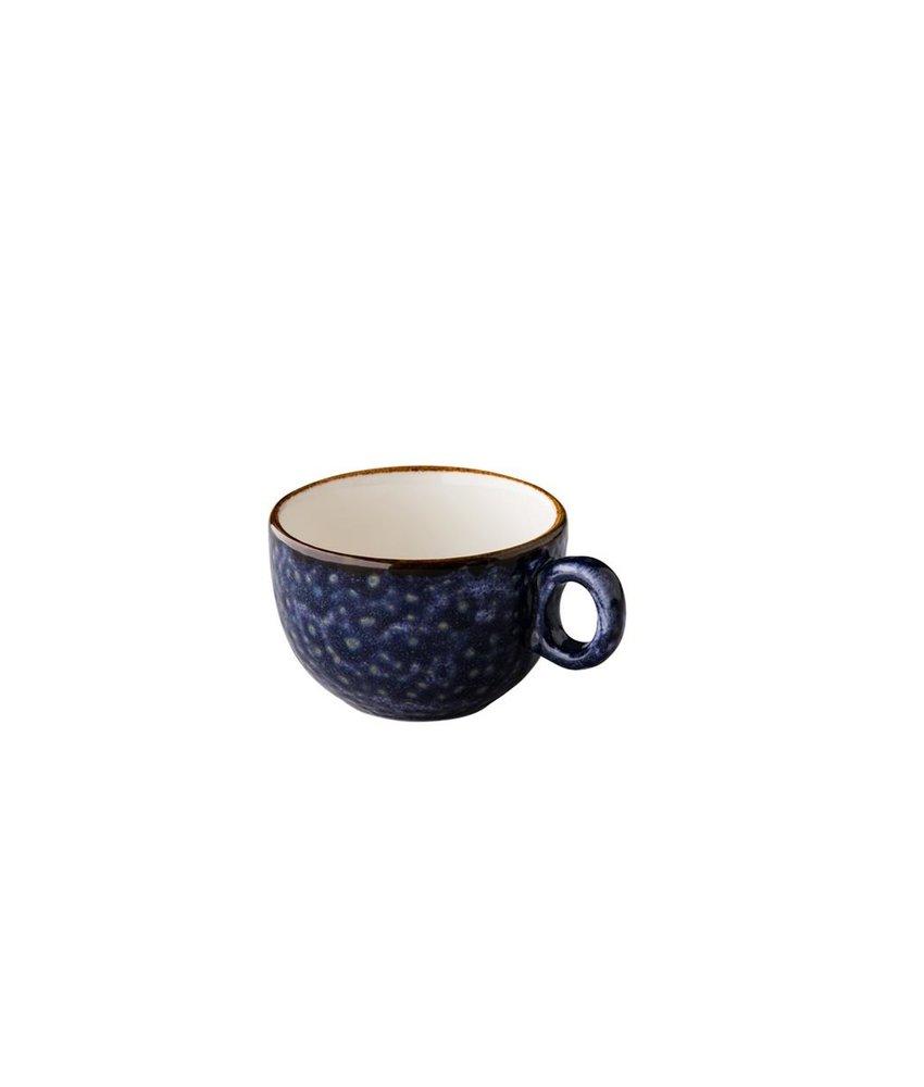 Q Authentic Jersey Koffiekop stapelbaar blauw 160 ml ( 6 stuks)