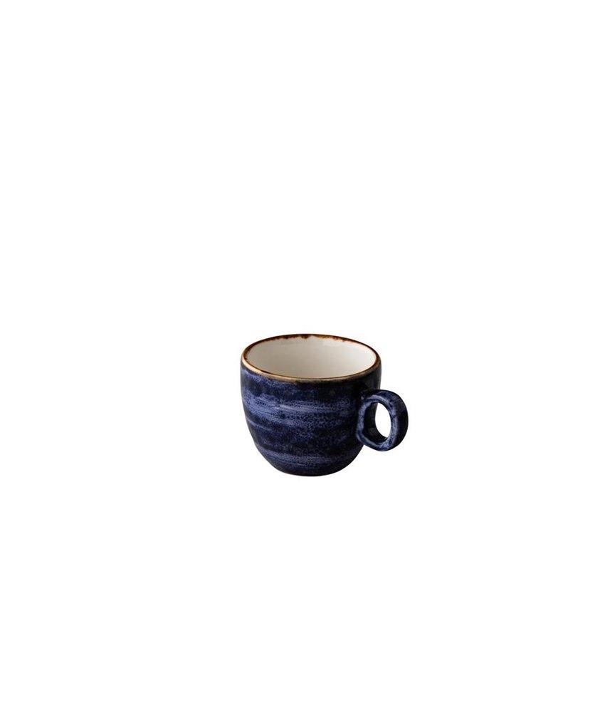 Q Authentic Jersey Espresso kop stapelbaar blauw 80 ml ( 6 stuks)