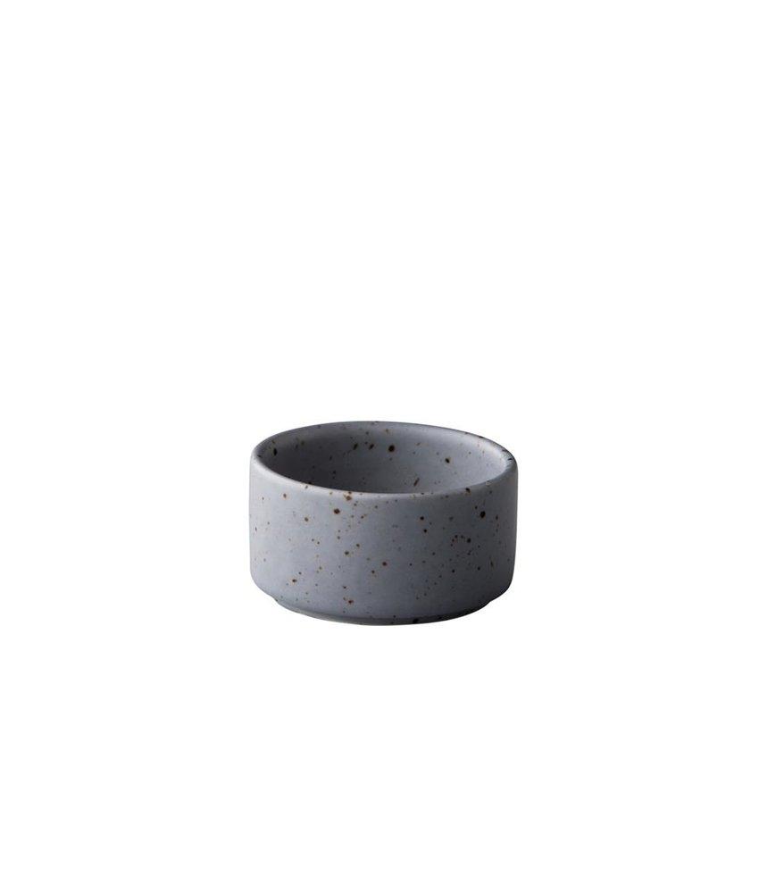 Q Authentic Tinto Stapelbaar sausbakje mat grijs 5 cm ( 12 stuks)