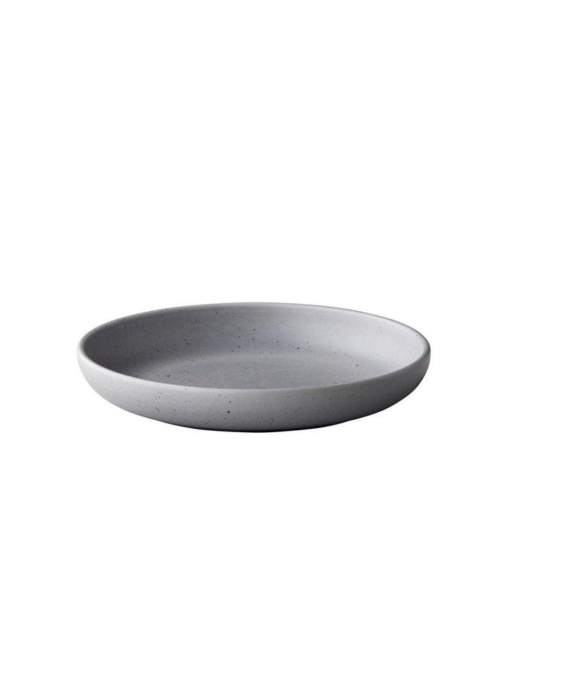 Q Authentic Tinto Diep bord mat grijs ( 6 stuks)