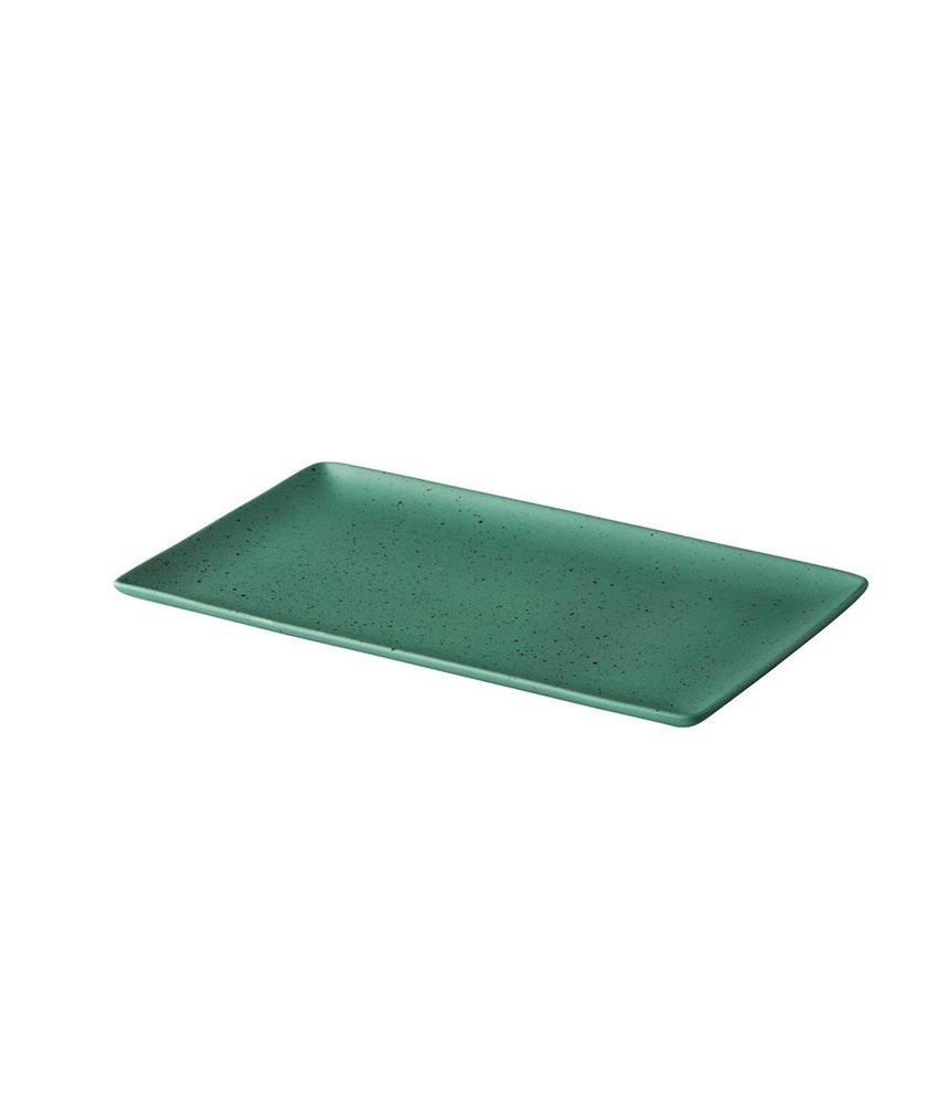 Q Authentic Tinto Bord mat groen 19 x 33,5cm ( 6 STUKS)