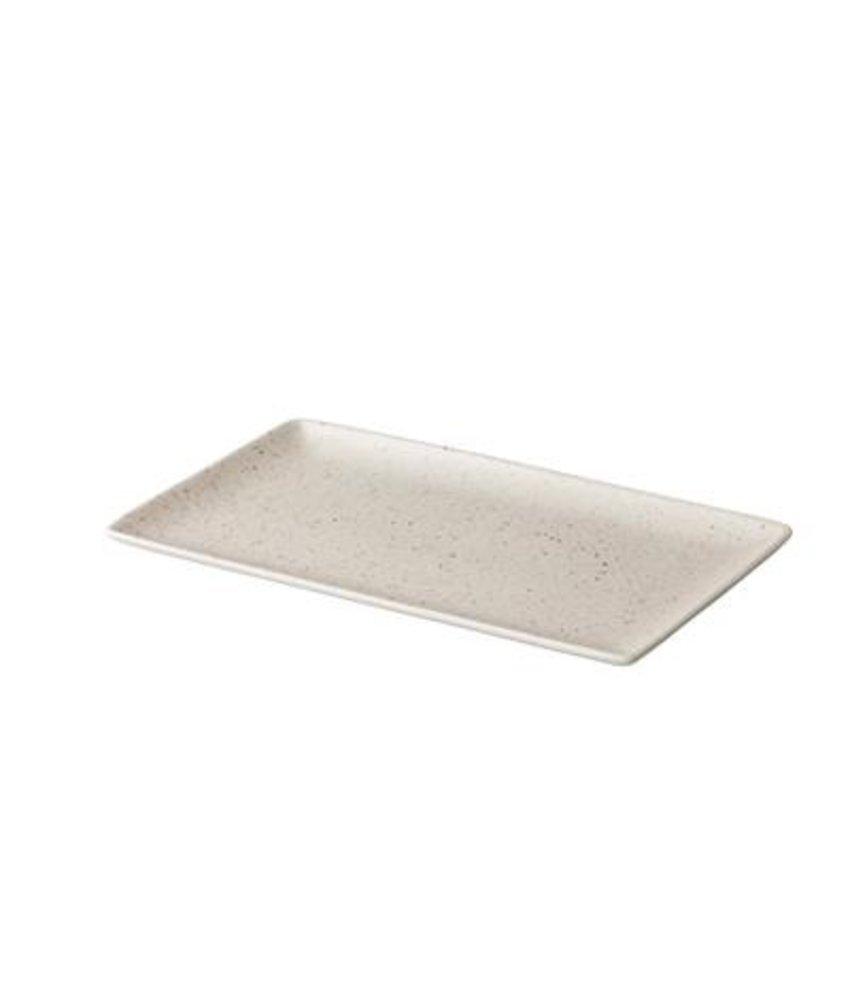 Q Authentic Tinto Bord mat wit 19 x 33,5cm ( 6 STUKS)