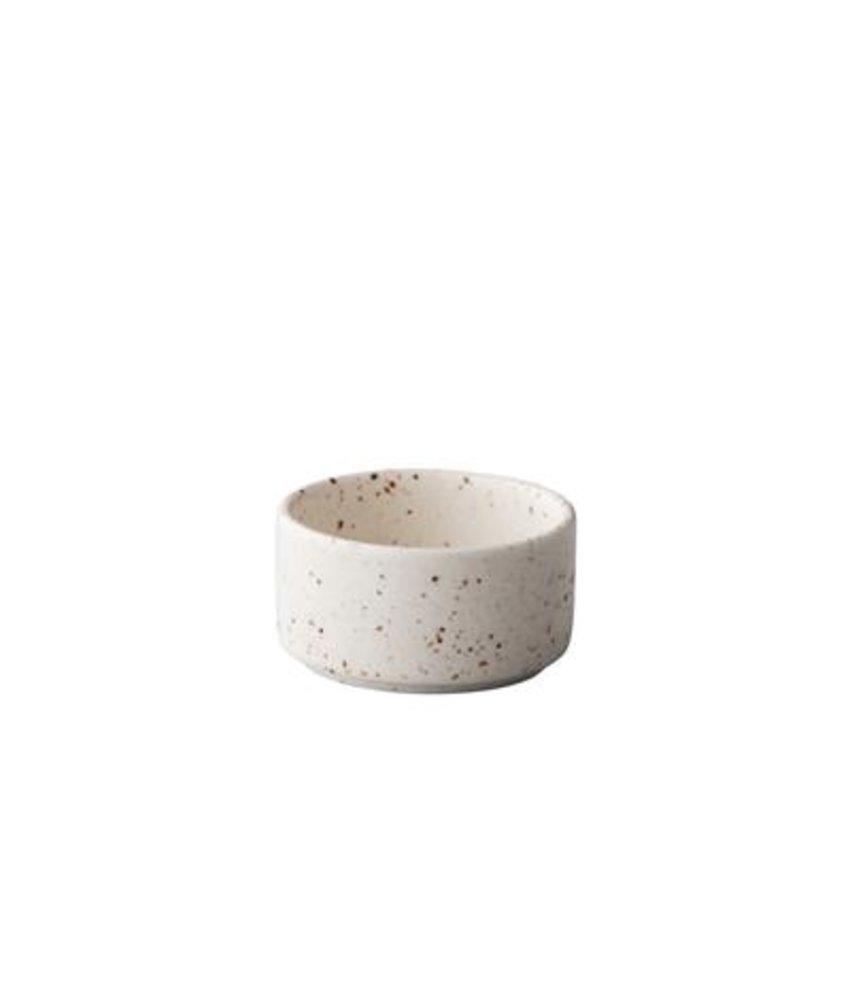Q Authentic Tinto Stapelbaar sausbakje mat wit 5 cm ( 12 stuks)