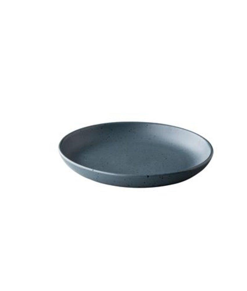 Q Authentic Tinto Diep bord mat donkergrijs ( 6 stuks)