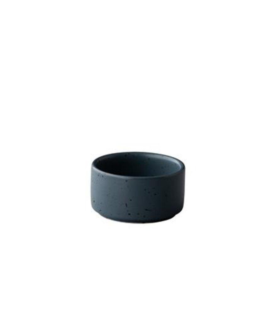 Q Authentic Tinto Stapelbaar sausbakje mat donkergrijs 5 cm ( 12 stuks)