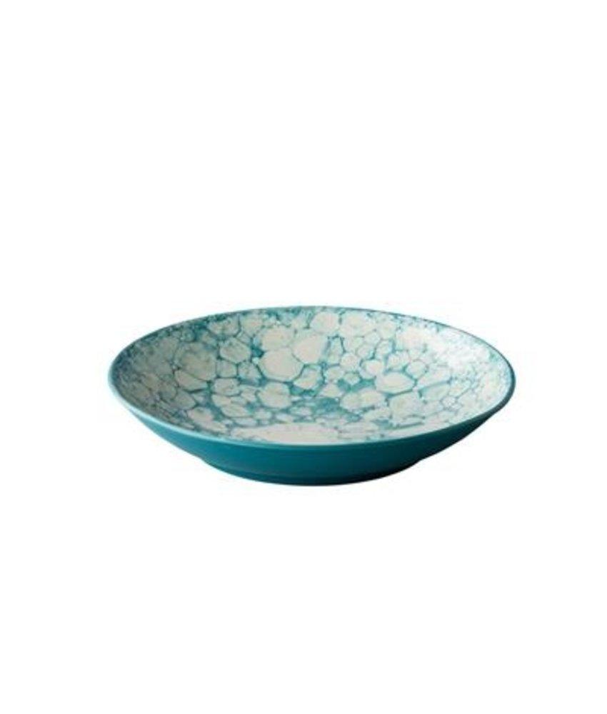 Q Authentic Bubbles Diep bord Bubble turquoise 25,5 cm ( 3 stuks)