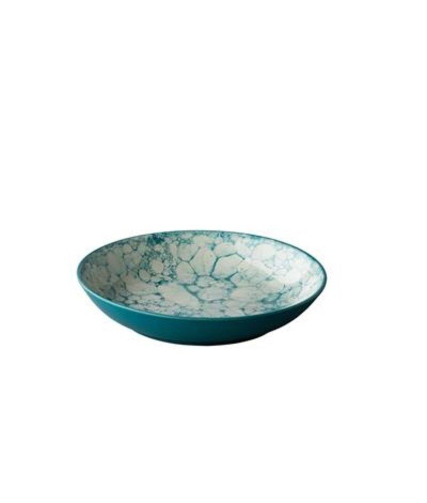 Q Authentic Bubbles Diep bord Bubble turquoise  21 cm ( 6 stuks)
