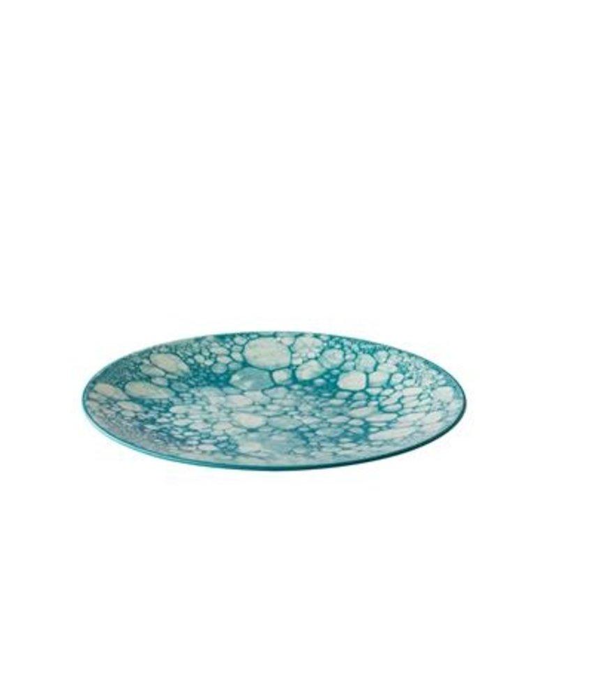 Q Authentic Bubbles Bord Bubble turquoise 27,5 cm ( 6 stuks)
