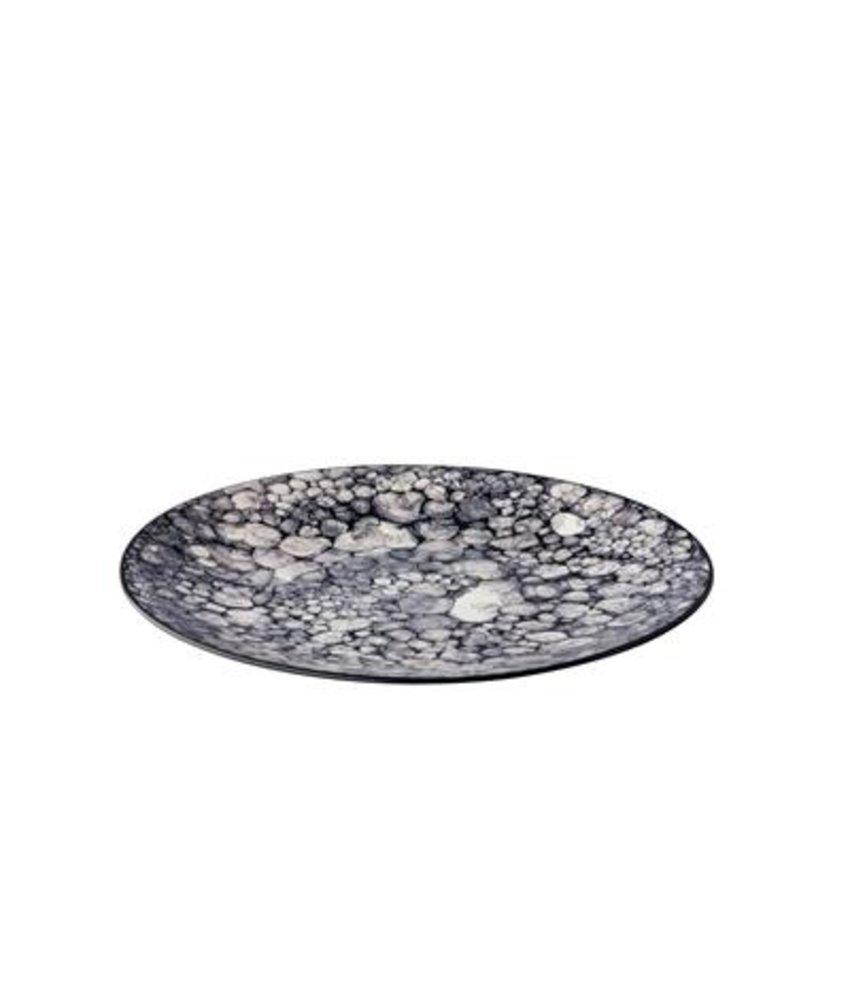 Q Authentic Bubbles Bord Bubble zwart 27,5 cm ( 6 stuks)