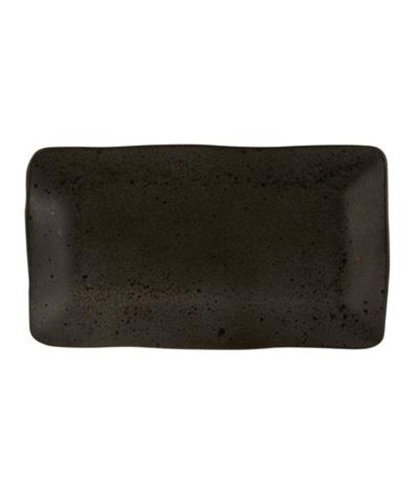 Q Authentic Stoneblack Rechthoekig bord 27,5 x 15,5 cm ( 6 stuks)
