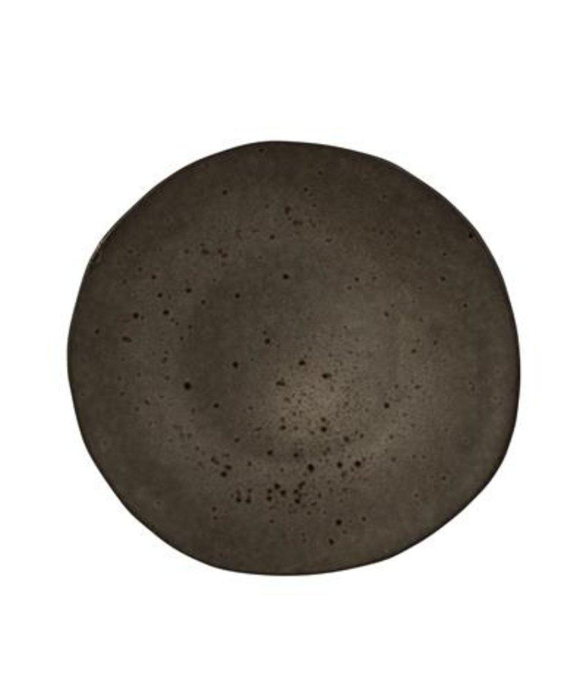 Q Authentic Stoneblack Bord 21 cm ( 6 stuks)