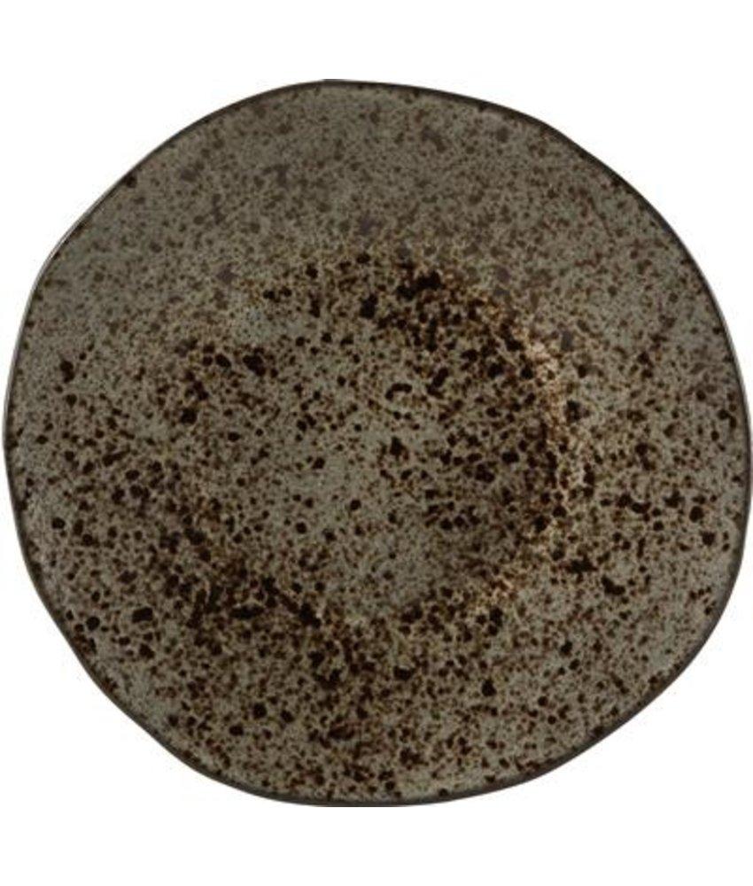 Q Authentic Stoneblack Bord 16 cm ( 8 stuks)