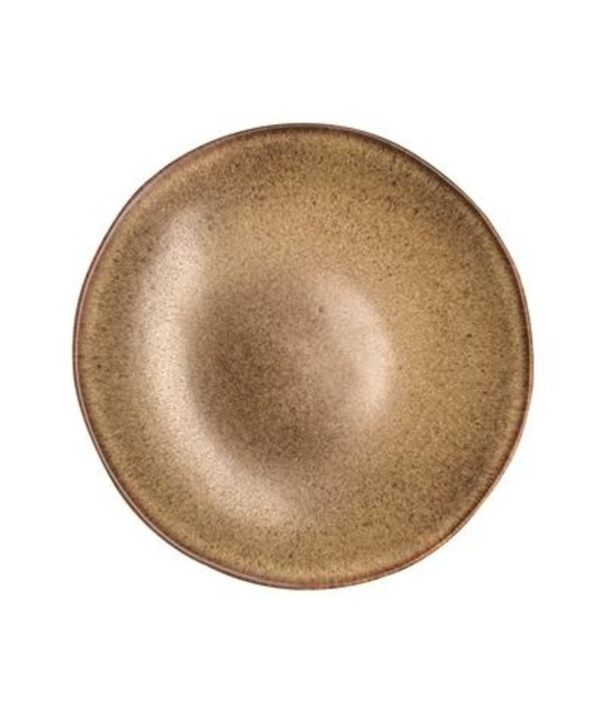 Q Authentic Stonebrown Coupebord diep 26,5 cm ( 4 stuks)
