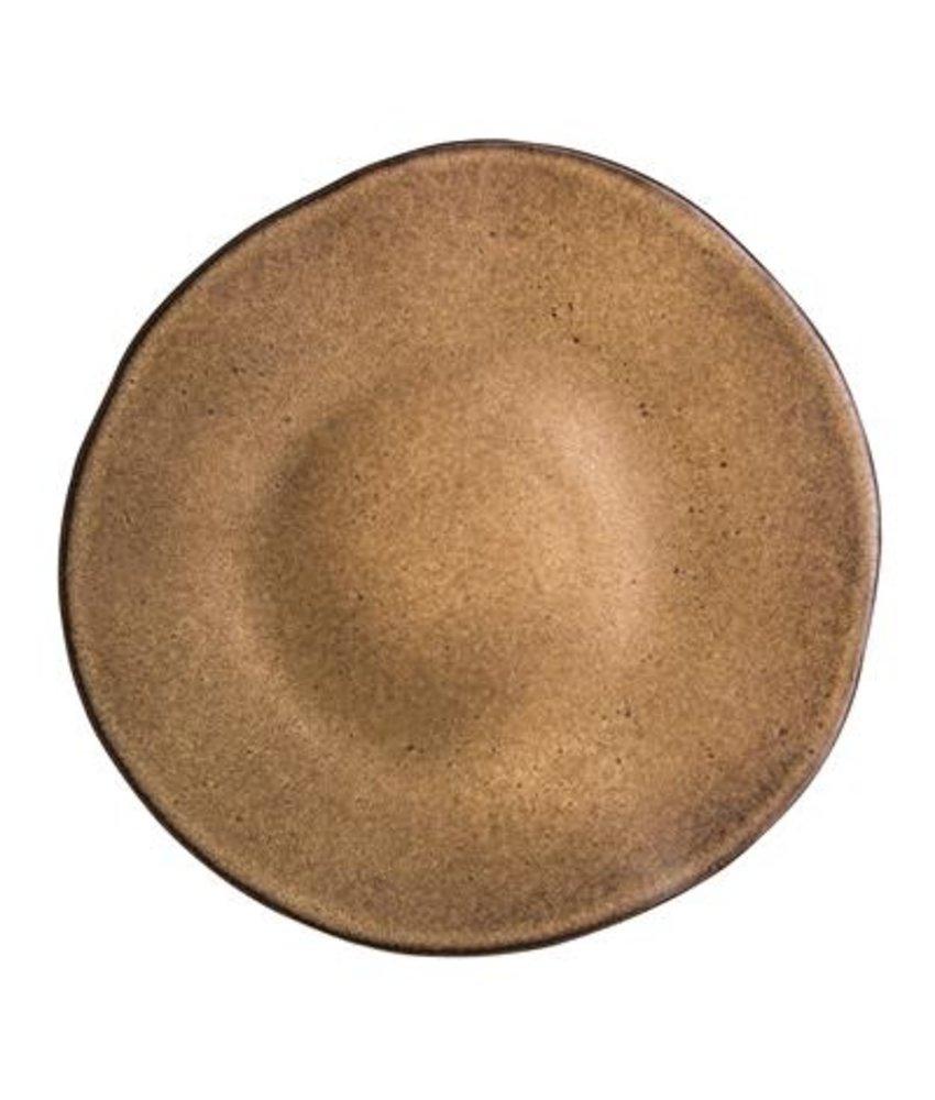 Q Authentic Stonebrown Bord 28,5 cm ( 6 stuks)