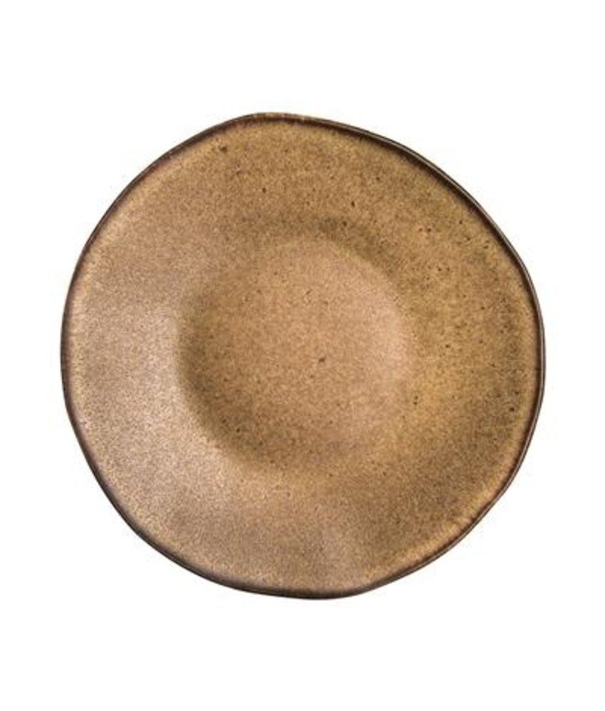 Q Authentic Stonebrown Bord 21 cm ( 6 stuks)