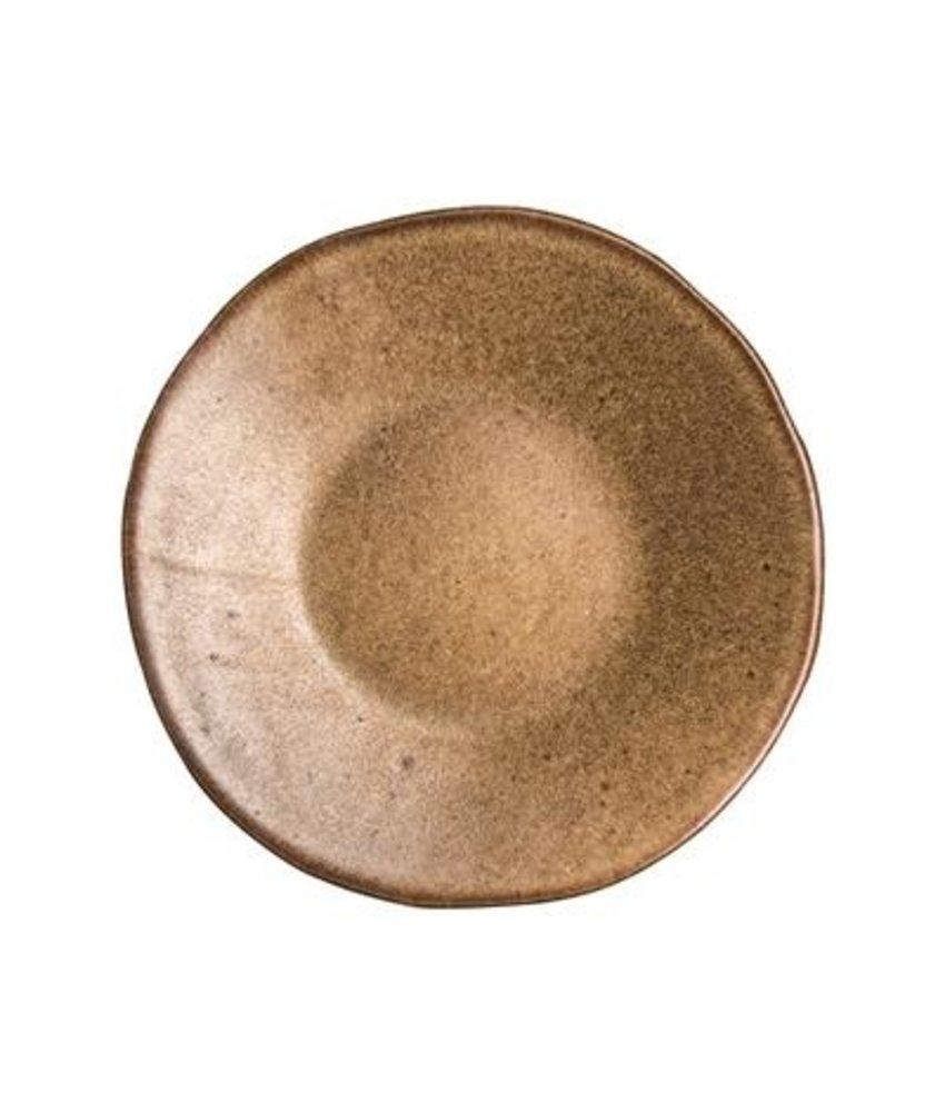 Q Authentic Stonebrown Bord 16 cm ( 8 stuks)