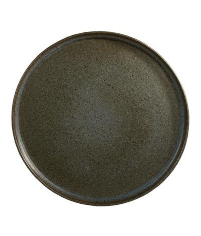 Q Authentic Stonegreen Bord met opstaande rand 26,5 cm ( 6 stuks)