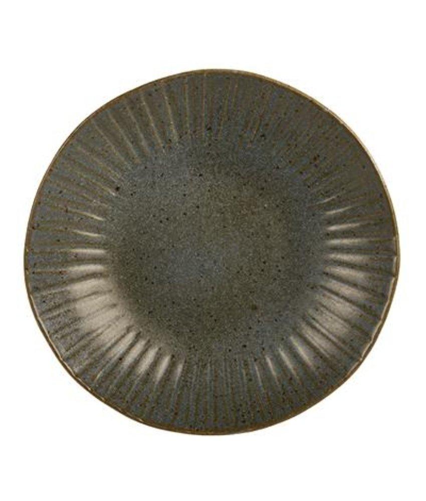 Q Authentic Stonegreen Coupebord 26,5 cm ( 4 stuks)