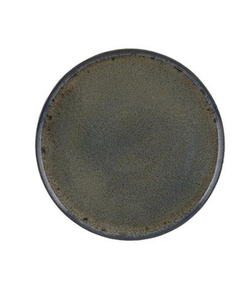Q Authentic Stoneblue Bord met opstaande rand 26,5 cm ( 6 stuks)