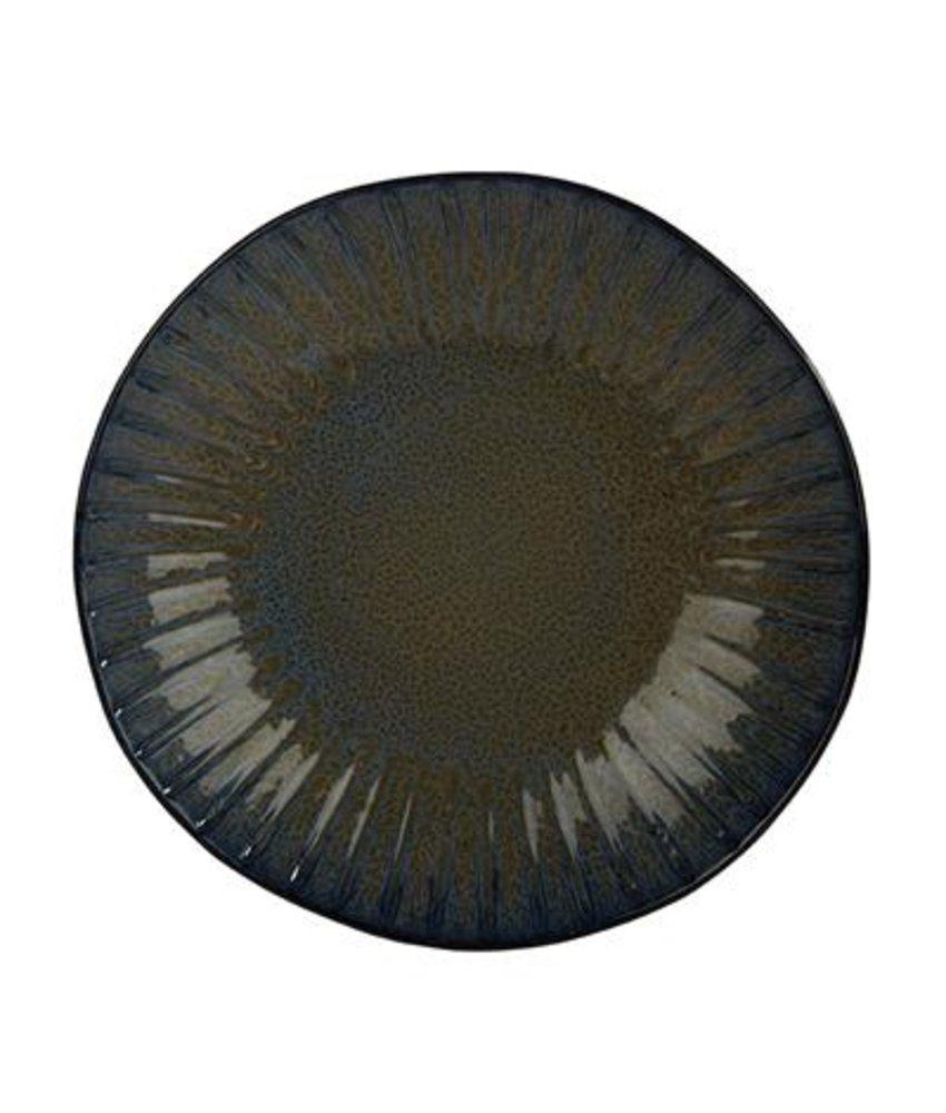 Q Authentic Stoneblue Coupebord 26,5 cm ( 4 stuks)