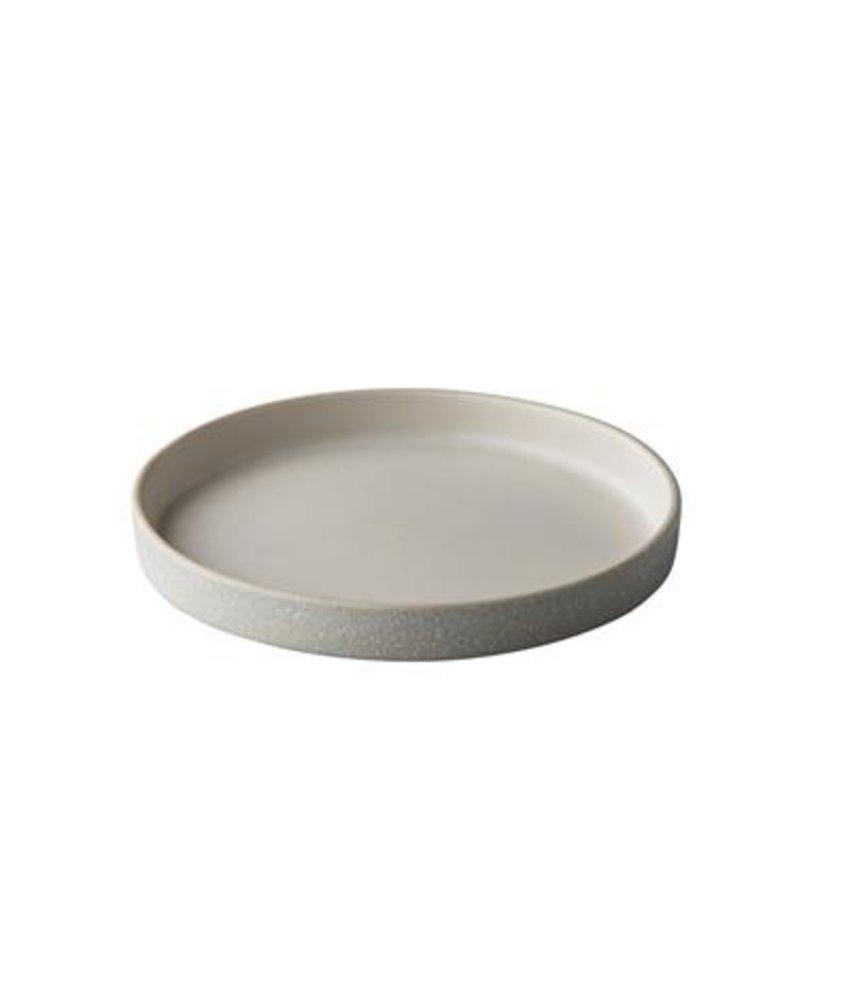 Q Raw Bristol wit tweezijdig bord 17cm opstaande rand ( 4 stuks)