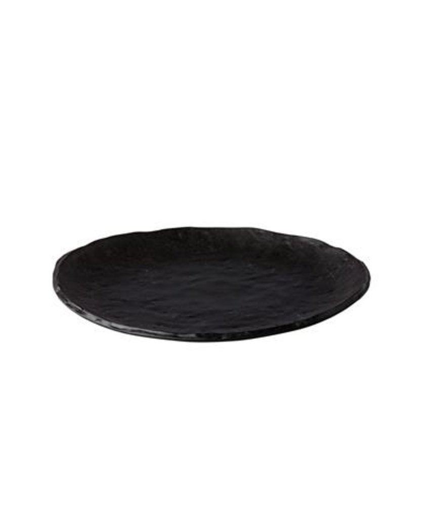 Q Raw Bord Oyster zwart 27cm ( 4 stuks)