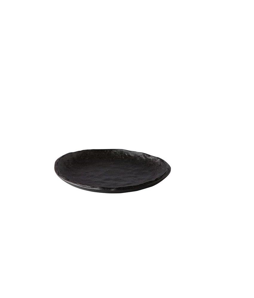 Q Raw Bord Oyster zwart 16cm ( 4 stuks)