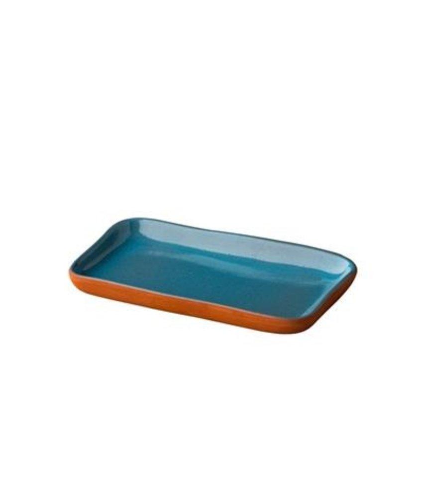 Stoneheart Snack tapas bord blauw ( 12 stuks)