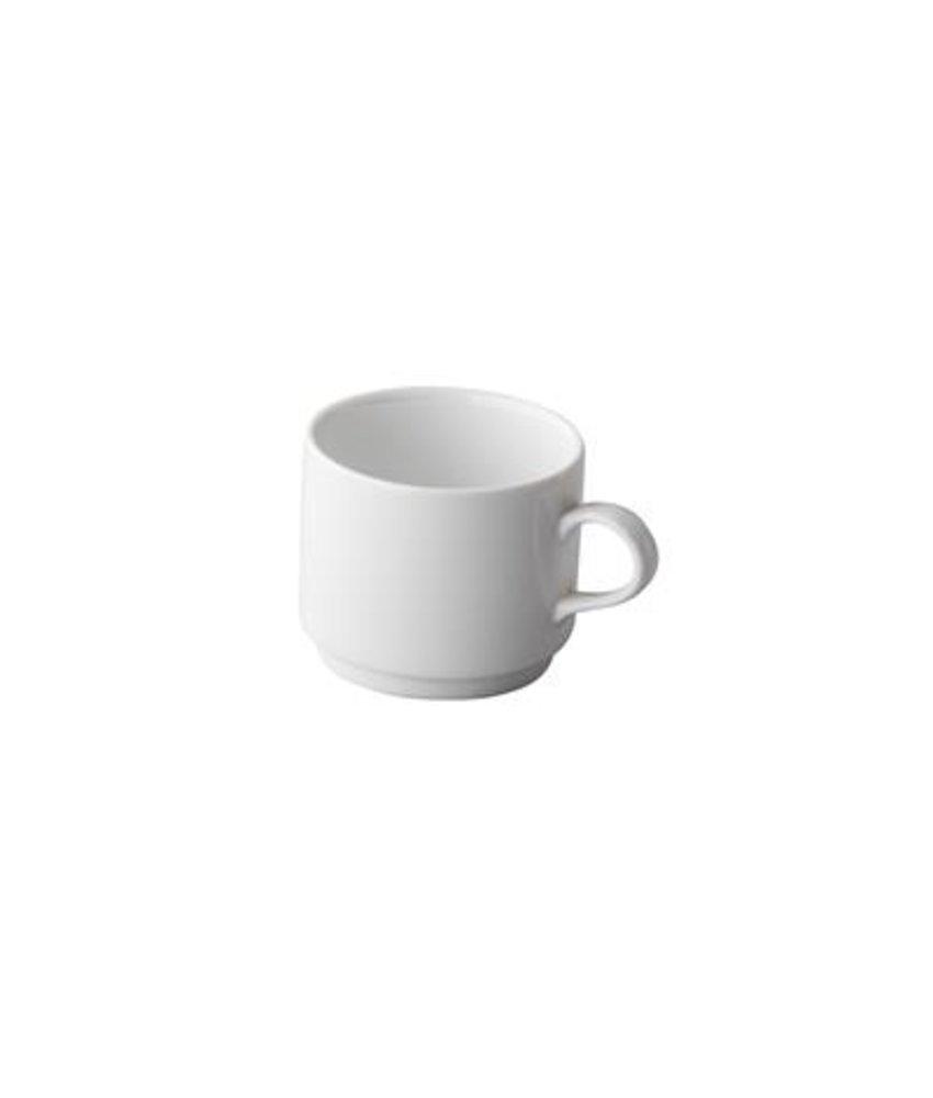 Q Basic Stapelbare koffiekop 300 ml ( 12 stuks)