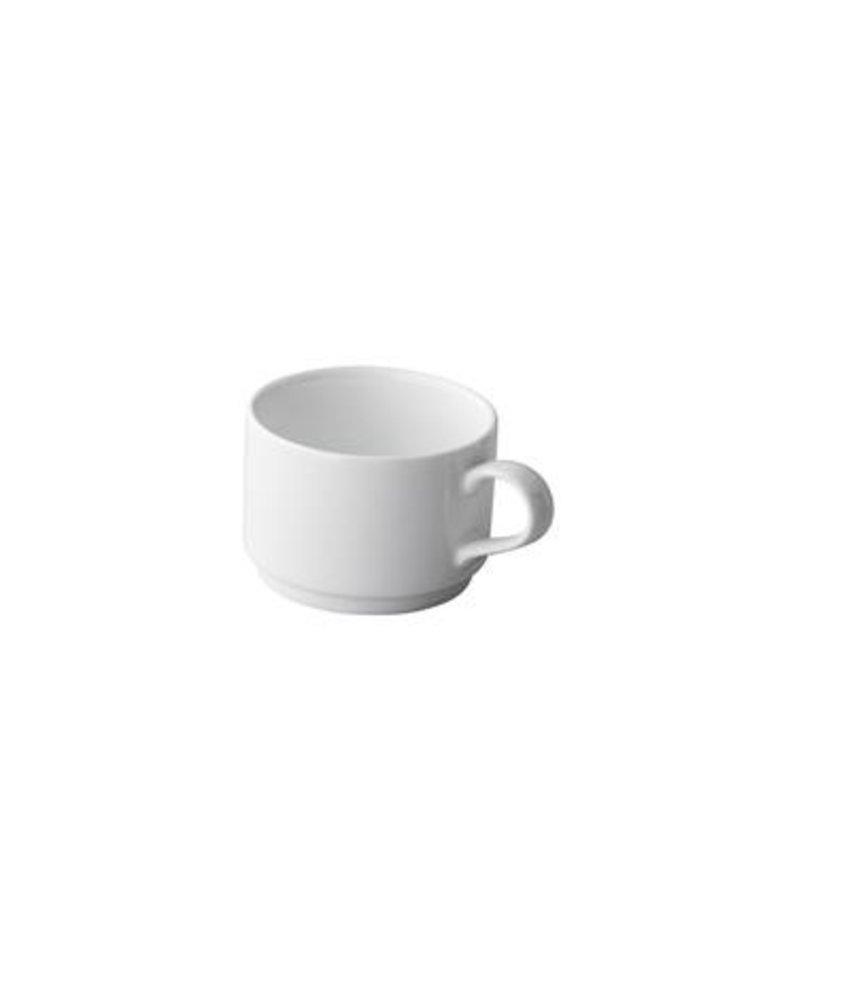 Q Basic Stapelbare koffiekop 220 ml ( 12 stuks)