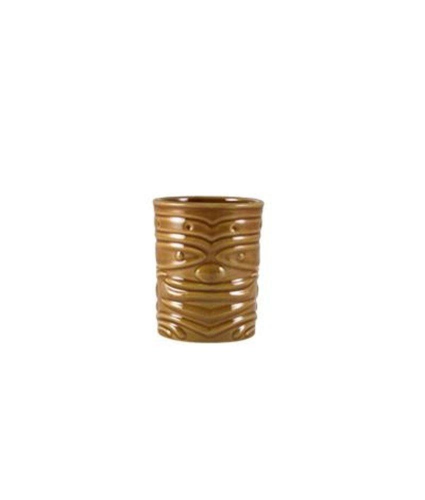 Stylepoint Tiki beker bruin 360ml ( 4 stuks)