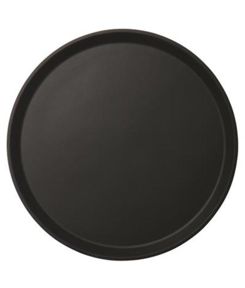 Cambro Rond dienblad anti-slip zwart