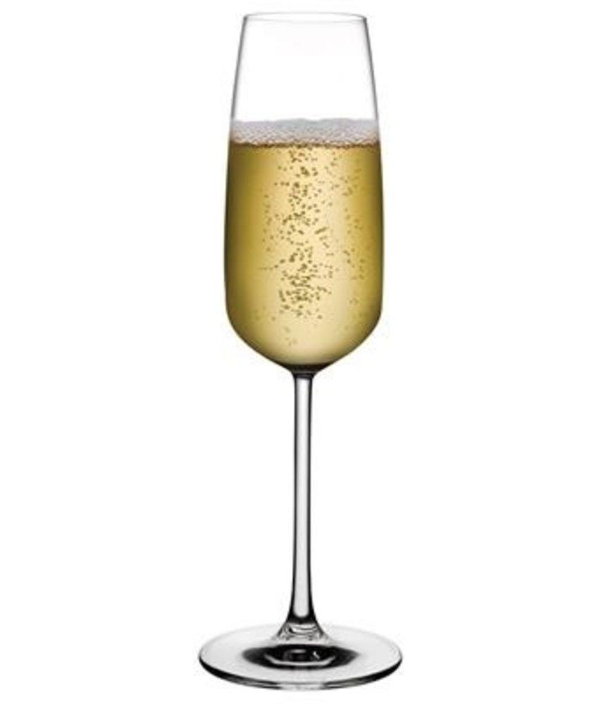 Nude Mirage champagneglas 245 ml ( 6 stuks)