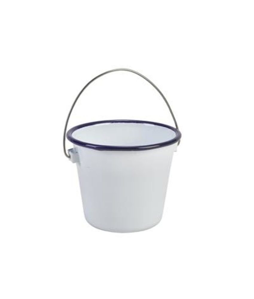 Stylepoint Emaille buffetemmer m/blauwe rand 10 cm 500ml
