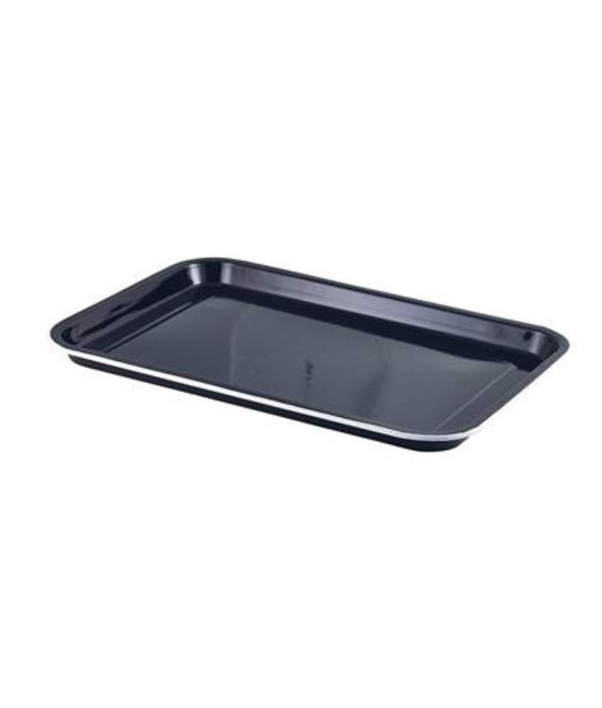 Stylepoint Emaille foodplateau zwart/wit 38,2 x 26,4 cm ( 4 stuks)
