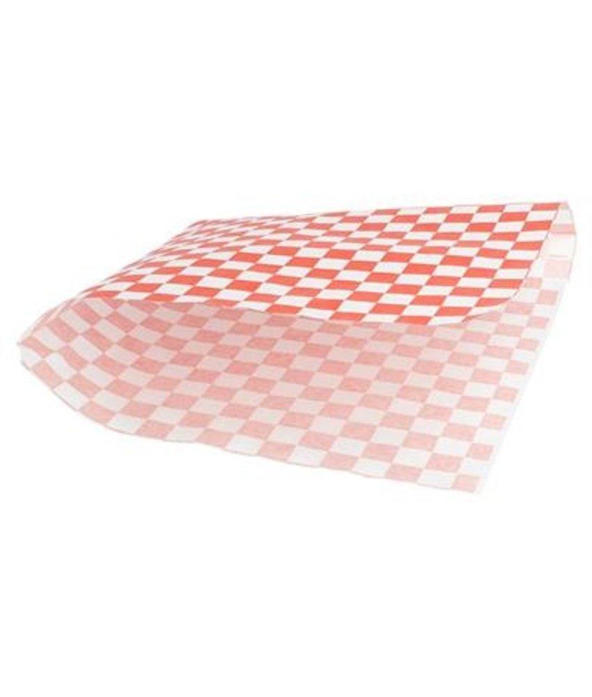 "Stylepoint Vetvrij papier zak""Cubes red/white""18x17cm 500-pak"