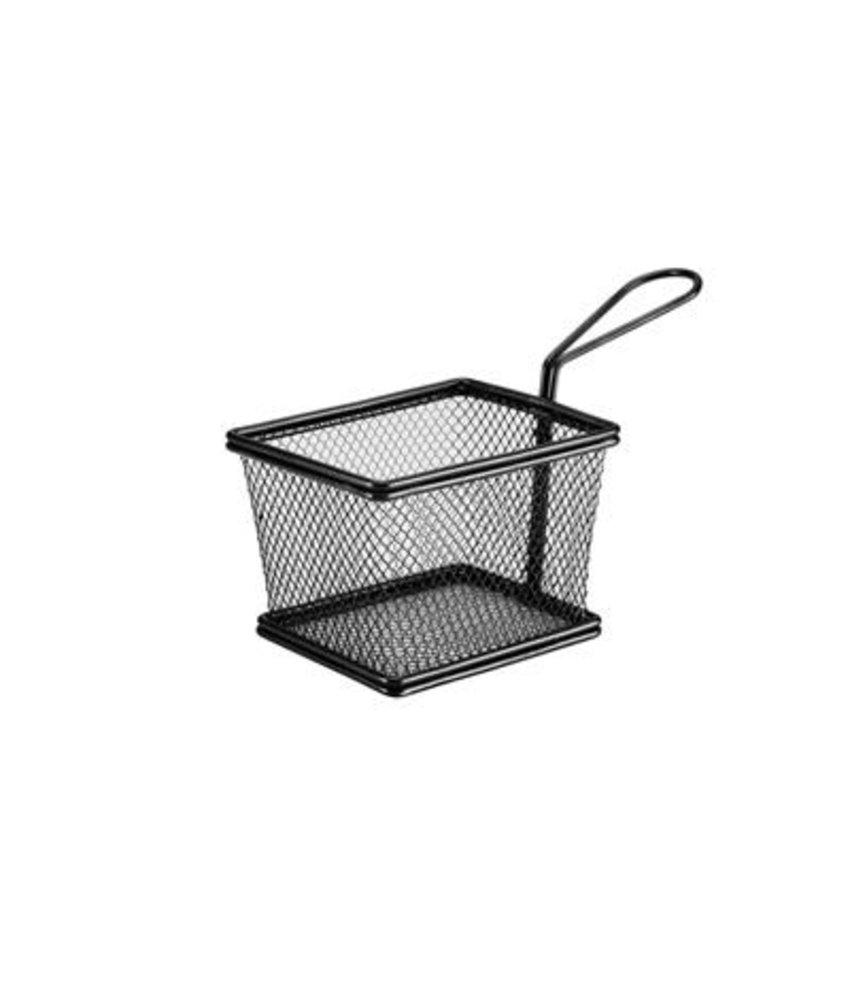 Stylepoint Pres. draadmandje zwart rechth. 12,5 x 9,7 x 8,5cm ( 6 stuks)