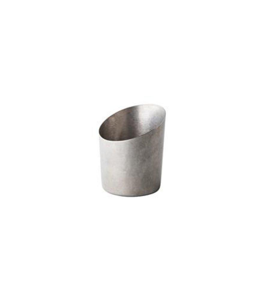 Stylepoint Presentatie bakje vintage schuin zilver Ø 9,5 cm