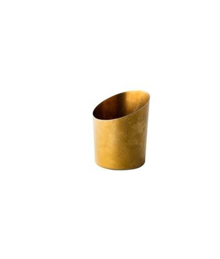 Stylepoint Presentatie bakje vintage schuin goud Ø 9,5 cm