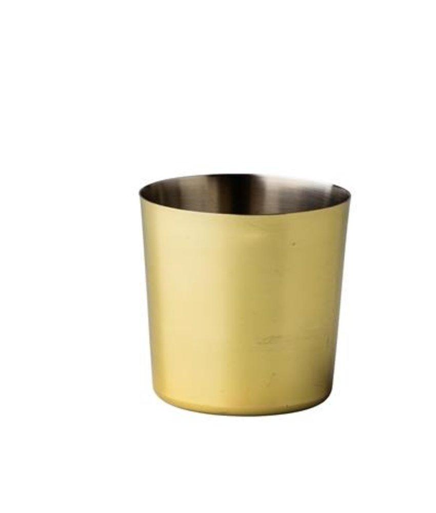 Stylepoint Elements RVS bakje goud recht Ø 8,7 cm 420 ml ( 12 stuks)