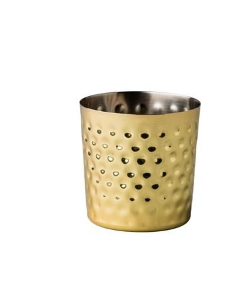 Stylepoint Elements RVS bakje goud recht gehamerd Ø 8,7 cm 420 m ( 12 stuks)
