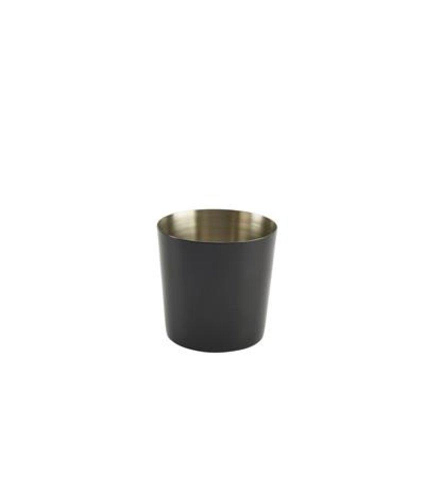 Stylepoint RVS friet presentatiebakje zwart glad 8,5 cm 420 ml
