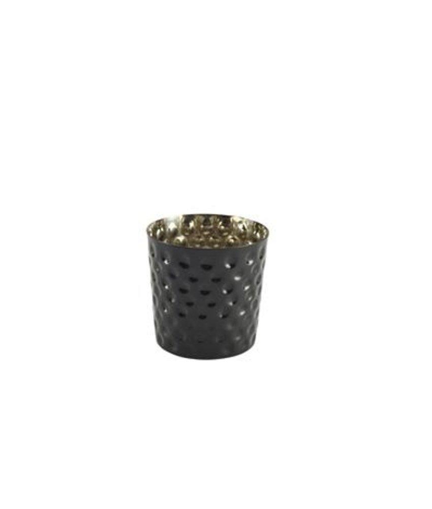 Stylepoint RVS friet presentatiebakje zwart gehamerd 8,5 cm 420 ml