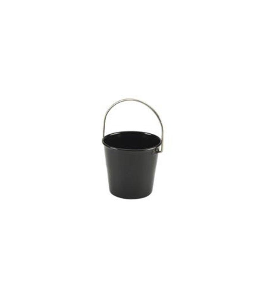 Stylepoint RVS miniatuur emmer zwart 4,5 cm