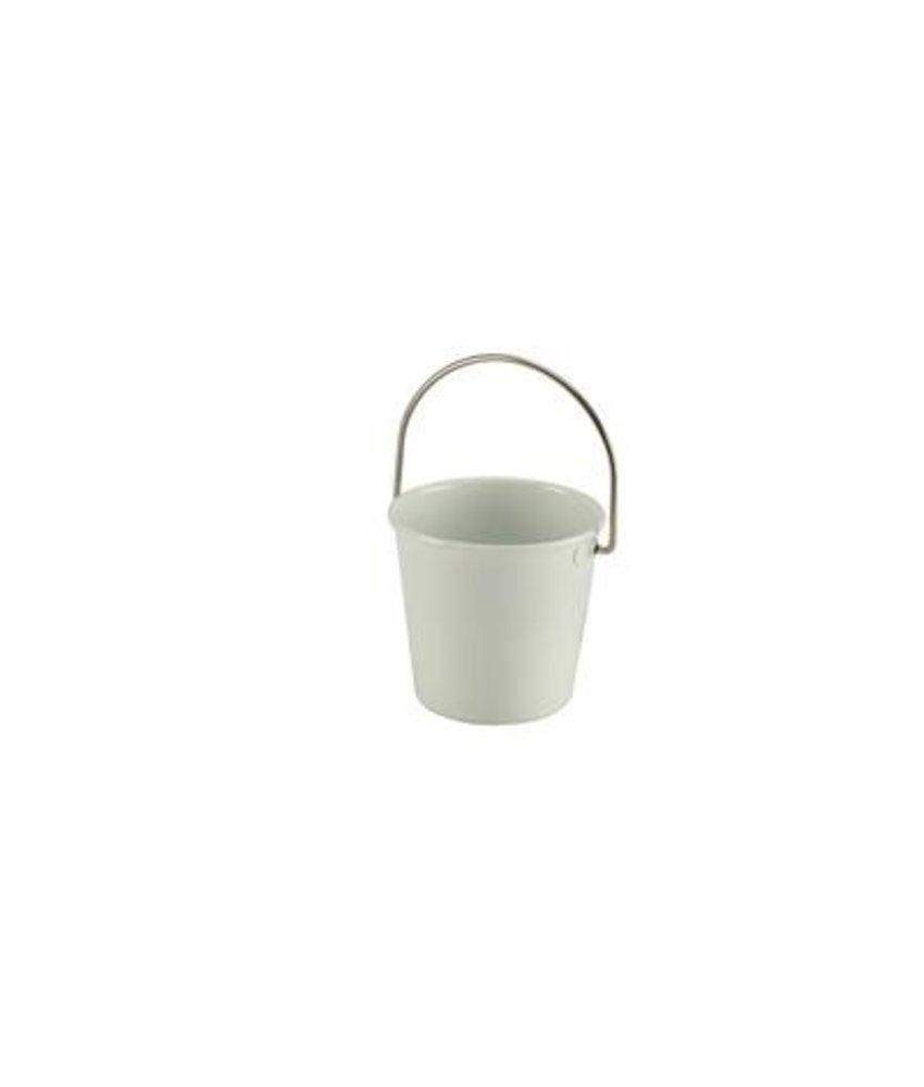Stylepoint RVS miniatuur emmer wit 4,5 cm 70 ml
