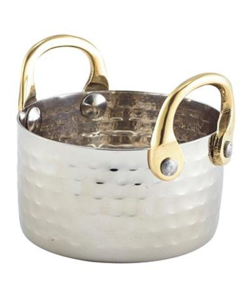 Stylepoint Gehamerd pannetje met brass handvaten 8,2x5cm