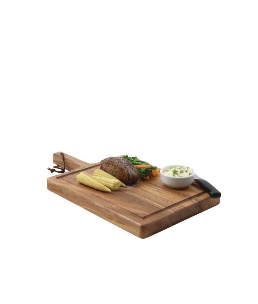 T&G Woodware Olympia toscaanse steakplank 25 x 17,5cm