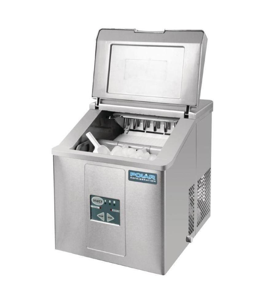 Polar Polar tafelmodel ijsblokjesmachine 17kg output