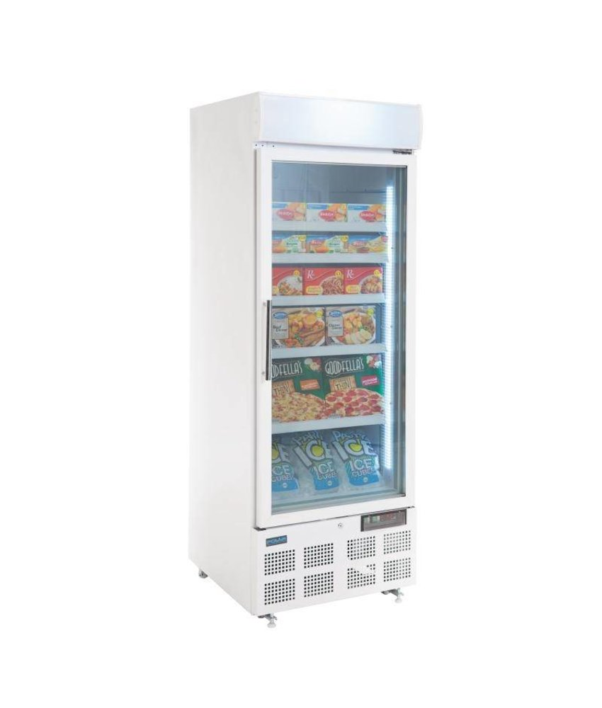 Polar Polar display vriezer met lichtkoof 412ltr